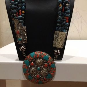 a0fc17a30f536 Jewelry - Tribal Jewel ethnic handmade Nepali Necklace rare!